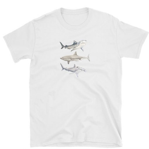 tshirt shark lover jaws sharks ocean t-shirt