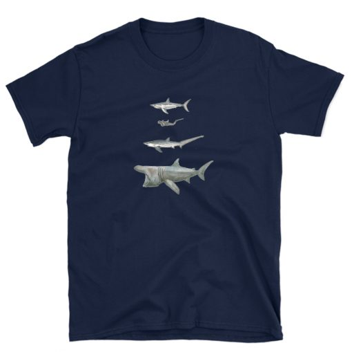 tshirt shark lover heart sharks ocean t-shirt