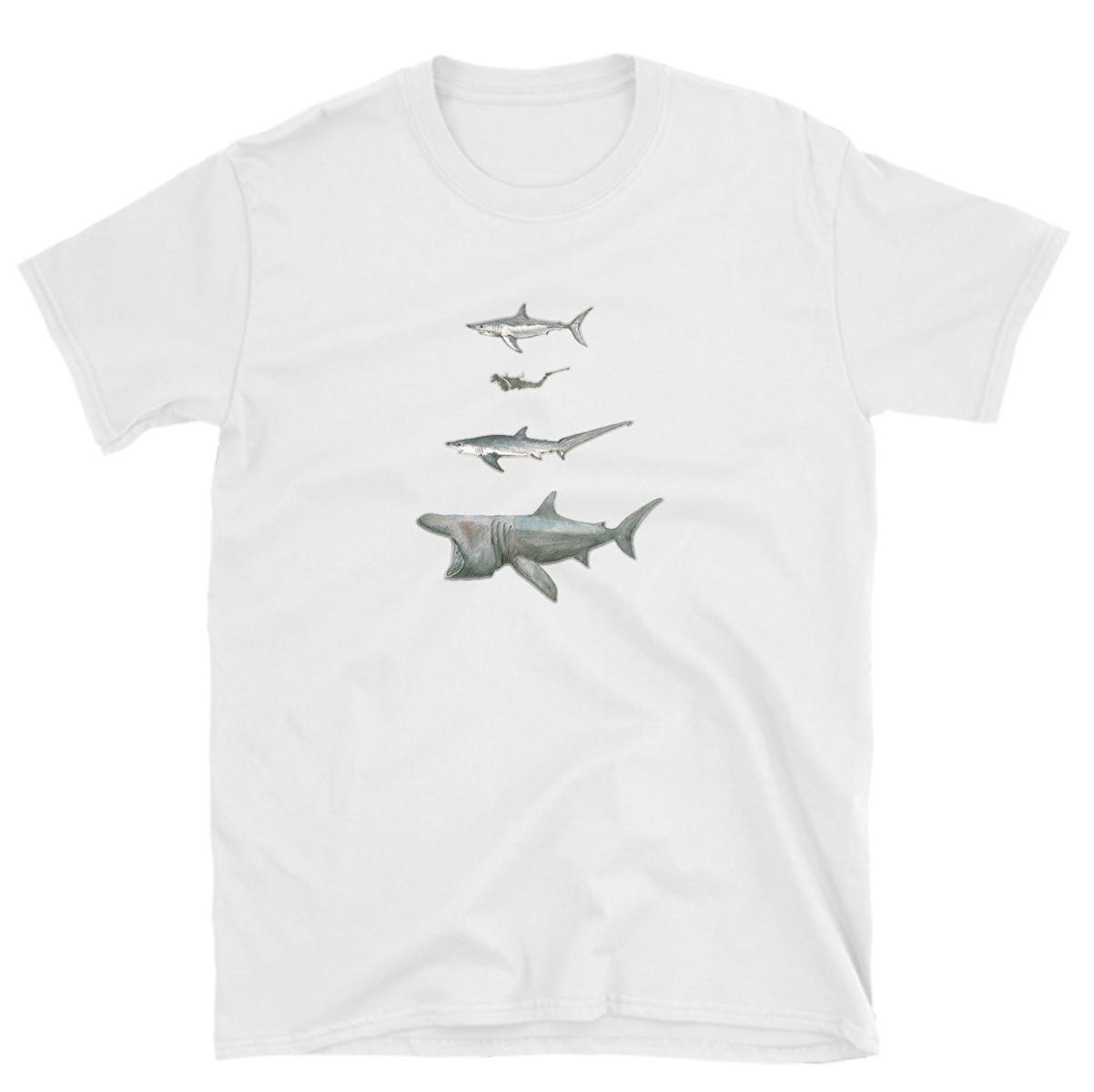 6dc00361 tshirt shark lover heart sharks ocean t-shirt