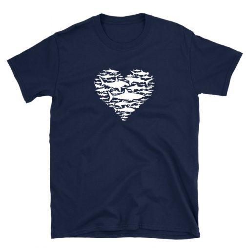 tshirt t-shirt shark heart sharks lover