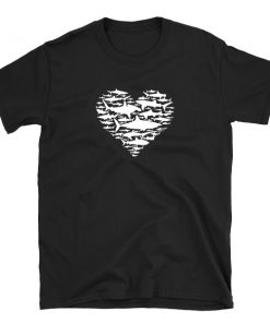 tshirt t-shirt shark heart sharks lover