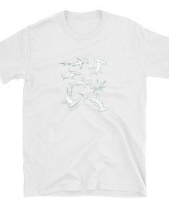 tshirt hammerhead shark lover heart sharks ocean t-shirt