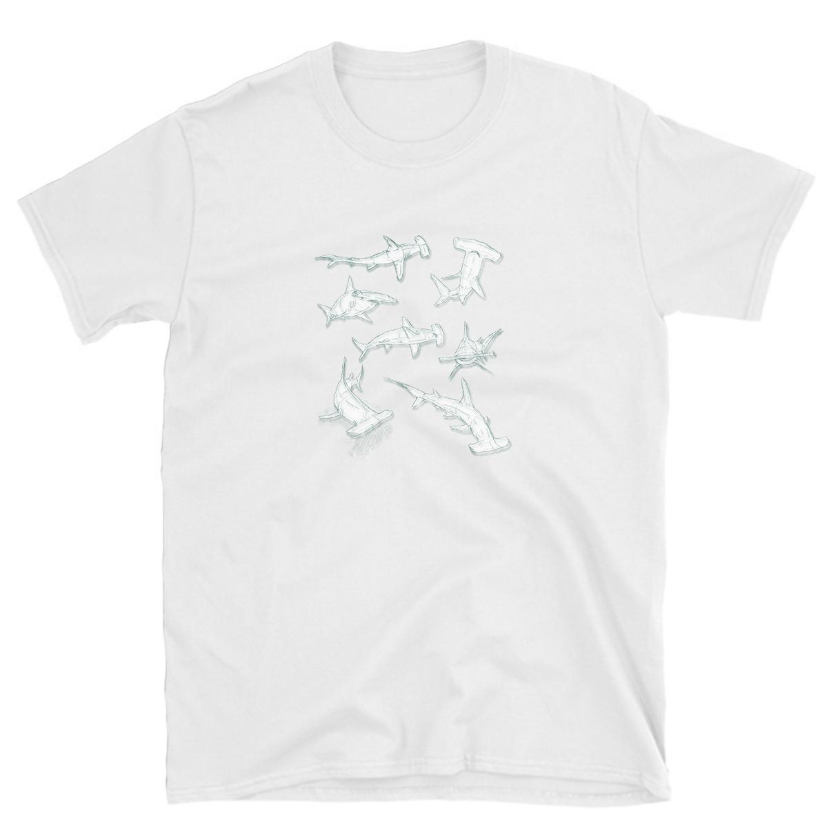 4eab34e6 tshirt hammerhead shark lover heart sharks ocean t-shirt