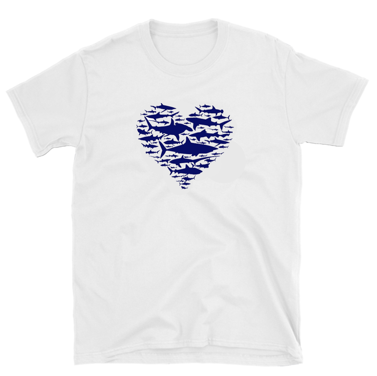 """2356836e In love with Sharks"""" T-shirt (White Edition) – Shark Advocates"""
