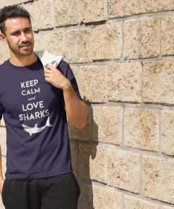 tshirt t shirt shark keep calm and love sharks