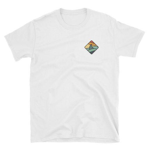 shark fin colorful tshirt t shirt shark lover